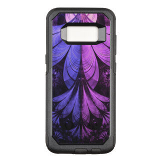 Beautiful Blue and Lilac-Violet Fractal Feathers OtterBox Commuter Samsung Galaxy S8 Case