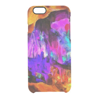 Beautiful blue and pink colors clear iPhone 6/6S case