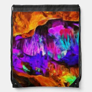 Beautiful blue and pink colors drawstring bag
