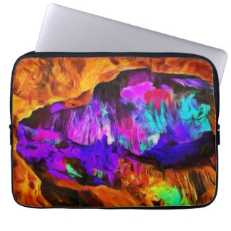 Beautiful blue and pink colors laptop sleeve