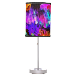 Beautiful blue and pink colors table lamp