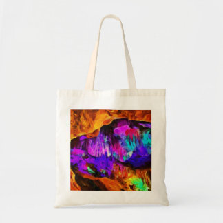 Beautiful blue and pink colors tote bag