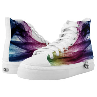 Beautiful Blue and purple Abstract smoke High Tops
