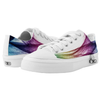 Beautiful Blue and purple Abstract smoke Low-Top Sneakers