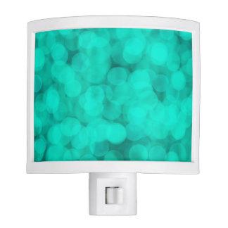 Beautiful Blue Aqua Bokeh Lights Night Light