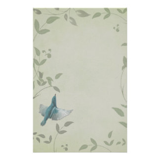 Beautiful Blue Bird Stationery