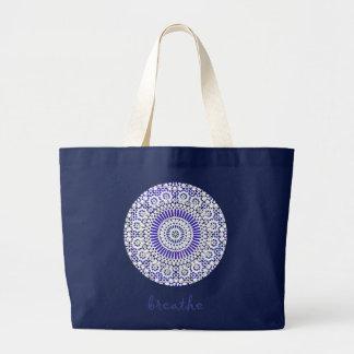 beautiful blue breathe yoga bag