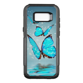 beautiful blue  butterflies OtterBox commuter samsung galaxy s8+ case