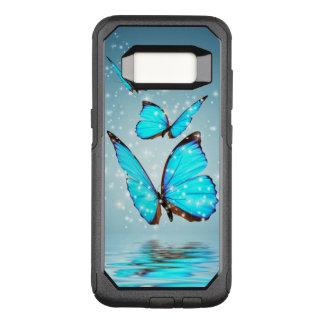 beautiful blue  butterflies OtterBox commuter samsung galaxy s8 case