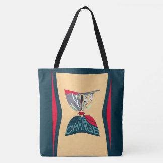 Beautiful Blue Change Classy Modern Shopping Tote Bag