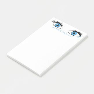 Beautiful Blue Eyes With Template Text At Top Post-it Notes