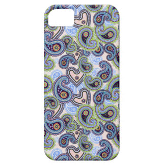 Beautiful Blue Floral Paisley Lace iPhone 5 Covers