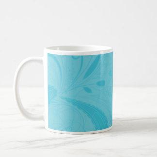 Beautiful blue floral wedding gift mugs