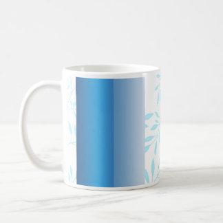Beautiful blue floral wedding gift basic white mug