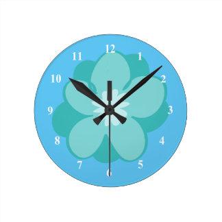 Beautiful Blue Flower Clocks