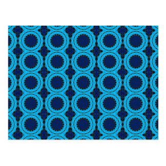Beautiful Blue Geometric Abstract Design Postcard