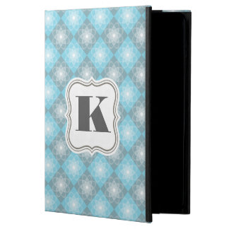 Beautiful Blue & Gray Checkers iPad Air Covers