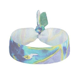 Beautiful Blue & Green Floral Watercolour Hair Tie