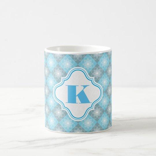 Beautiful Blue & Grey Checkers Coffee Mug