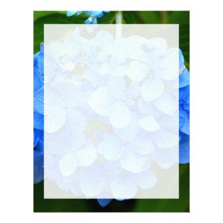 Beautiful Blue Hydrangea Flower Letterhead Template