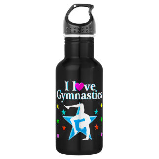 BEAUTIFUL BLUE I LOVE GYMNASTICS DESIGN 532 ML WATER BOTTLE