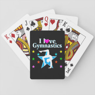 BEAUTIFUL BLUE I LOVE GYMNASTICS DESIGN PLAYING CARDS