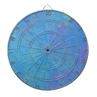 Beautiful Blue Marbled Paper Look Dartboard