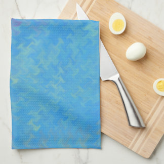 Beautiful Blue Marbled Paper Look Kitchen Towel