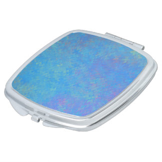 Beautiful Blue Marbled Paper Look Mirror For Makeup