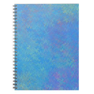 Beautiful Blue Marbled Paper Look Notebook