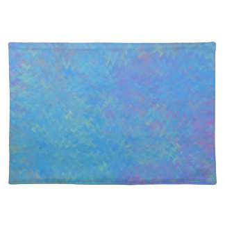 Beautiful Blue Marbled Paper Look Placemat