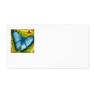 Beautiful Blue Morpho Butterfly Mailing Labels