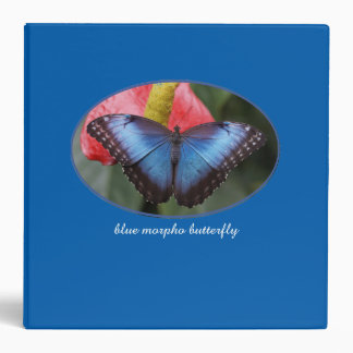 Beautiful Blue Morpho Three Ring Binder