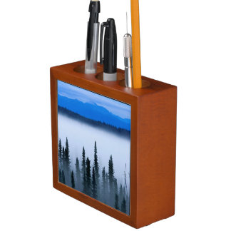 Beautiful Blue Mountains and Forest Desk Organizer