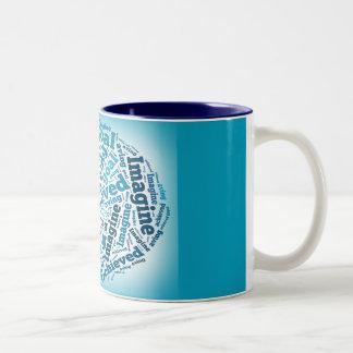 Beautiful Blue Mug With Wisdom Word Art
