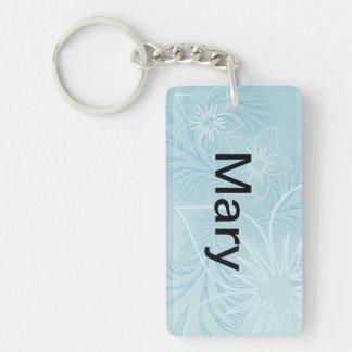 Beautiful Blue Name Keychain