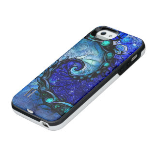 Beautiful Blue Nocturne of Scorpio Sapphire Spiral iPhone SE/5/5s Battery Case