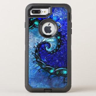 Beautiful Blue Nocturne of Scorpio Sapphire Spiral OtterBox Defender iPhone 8 Plus/7 Plus Case