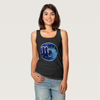 Beautiful Blue Nocturne of Scorpio Sapphire Spiral Tank Top