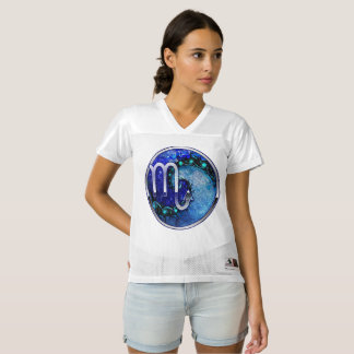 Beautiful Blue Nocturne of Scorpio Sapphire Spiral Women's Football Jersey