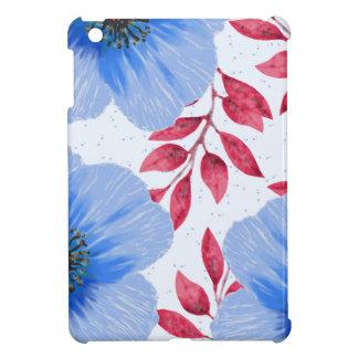 Beautiful Blue Poppy Flowers Pattern Case For The iPad Mini
