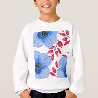Beautiful Blue Poppy Flowers Pattern Sweatshirt