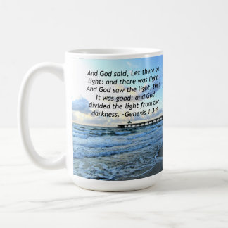BEAUTIFUL BLUE SKIES GENESIS 1:3 PHOTO DESIGN COFFEE MUG