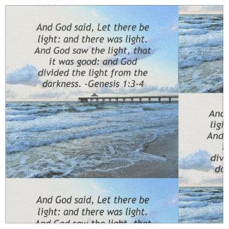 BEAUTIFUL BLUE SKIES GENESIS 1:3 PHOTO DESIGN FABRIC
