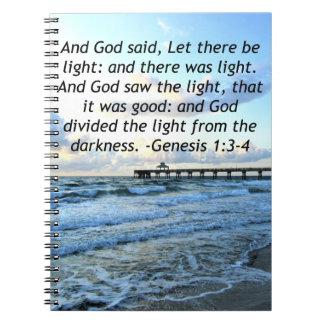 BEAUTIFUL BLUE SKIES GENESIS 1:3 PHOTO DESIGN NOTEBOOK