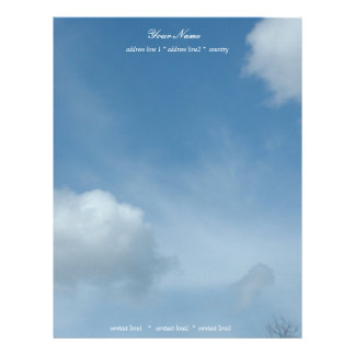 beautiful blue sky and clouds letterhead