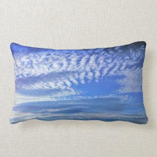 beautiful blue sky and clouds lumbar pillow