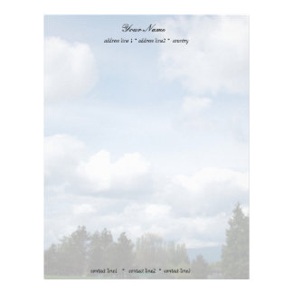 beautiful blue sky and white  clouds letterhead template