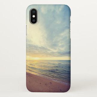 Beautiful Blue Sky Beach Sunset iPhone X Case