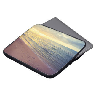 Beautiful Blue Sky Beach Sunset Laptop Sleeve